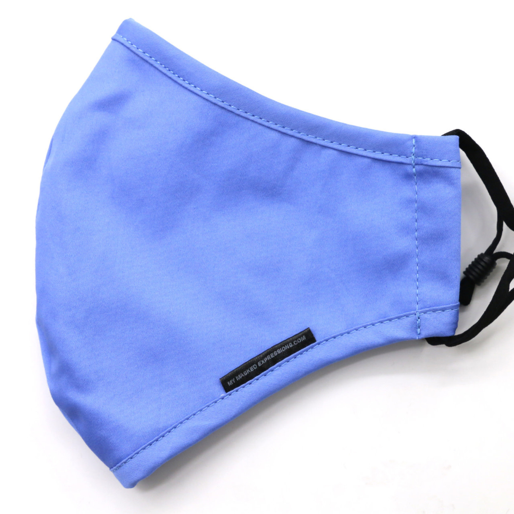 My Masked Expressions Adult Size Mask, Sky Blue Cotton