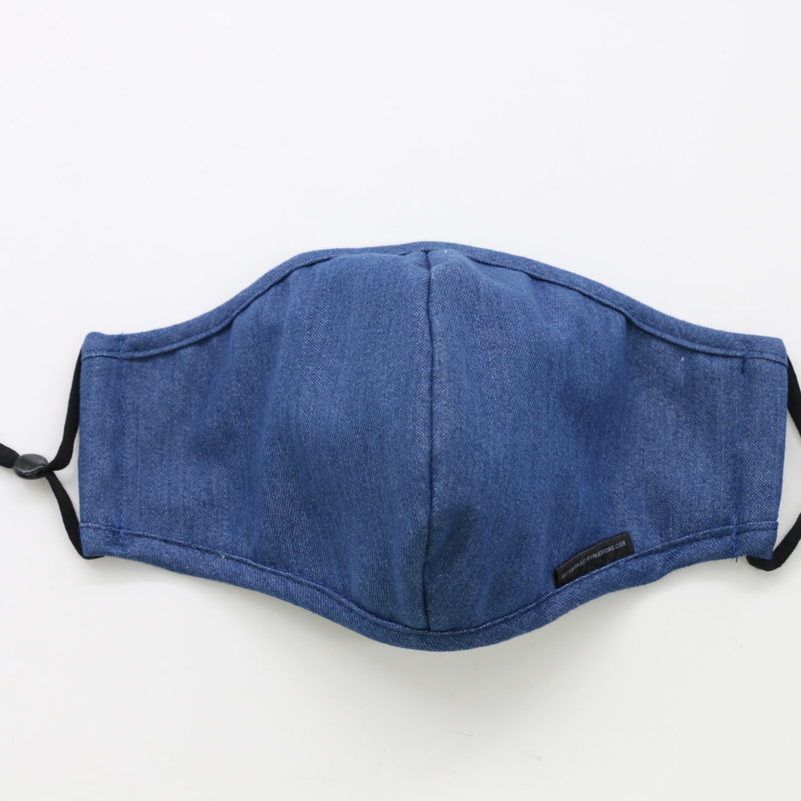My Masked Expressions Adult Size Mask, Classic Blue Denim