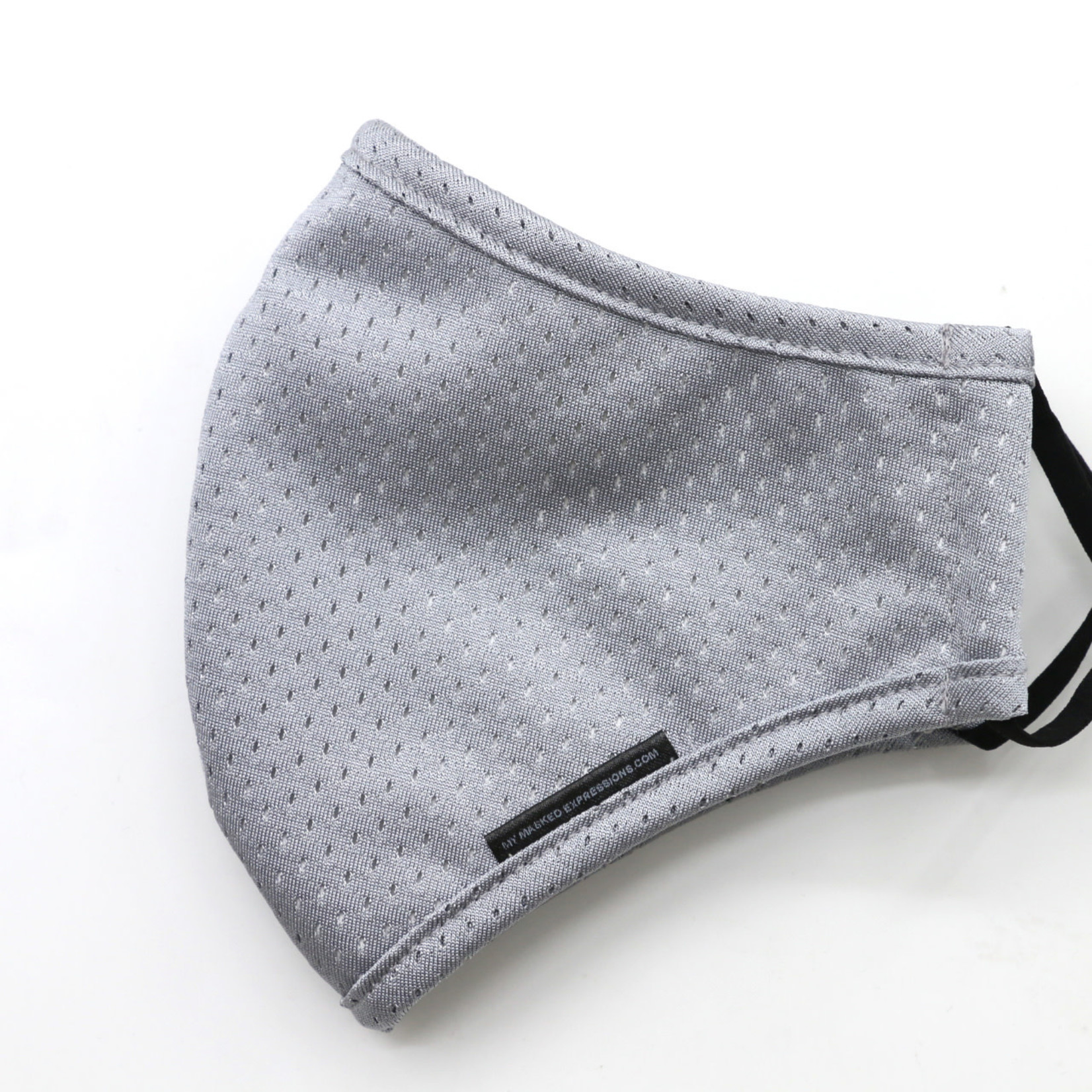 My Masked Expressions Adult Size Mask, Steel Grey Sport Mesh