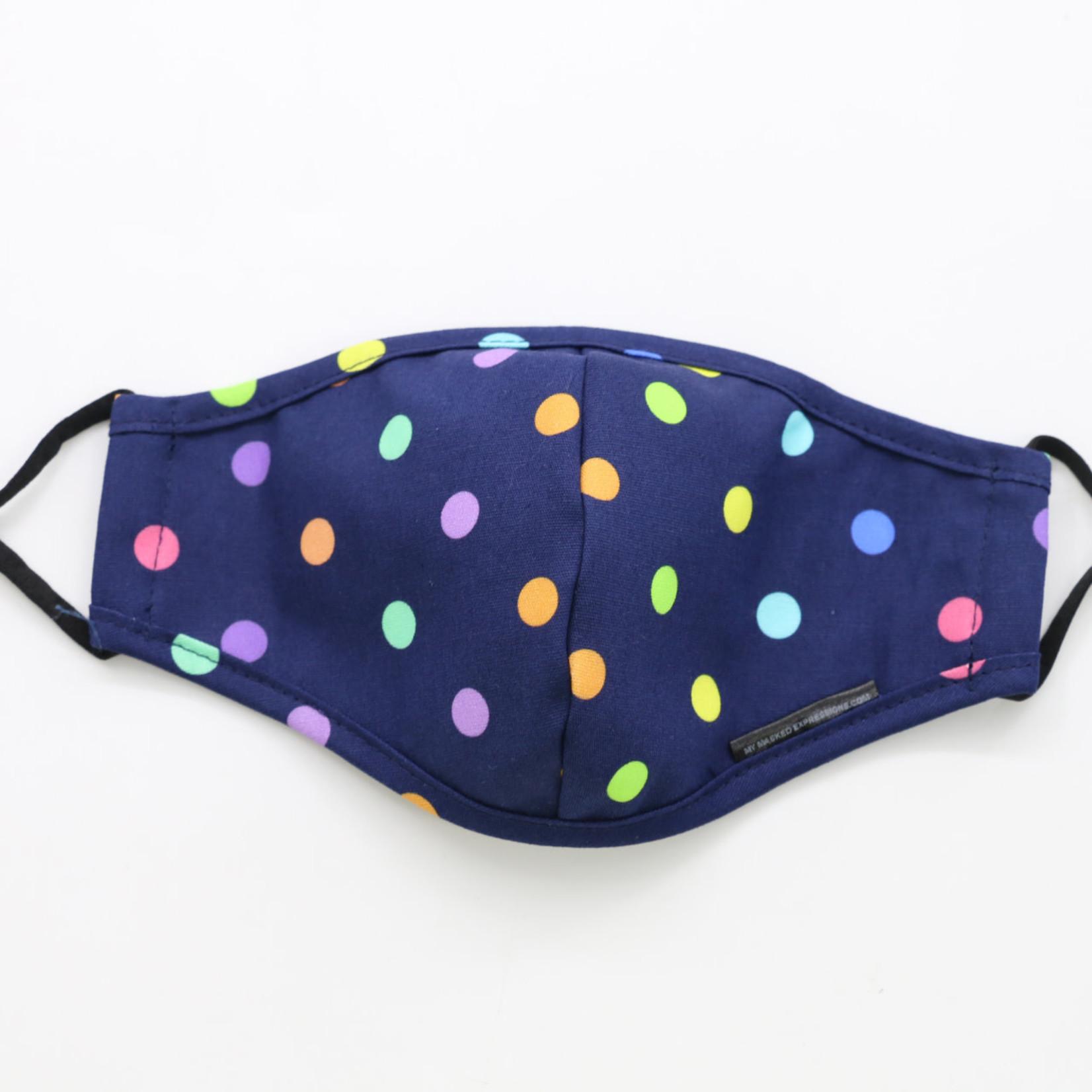 My Masked Expressions Kids' Size Mask, Mini Polka Dots
