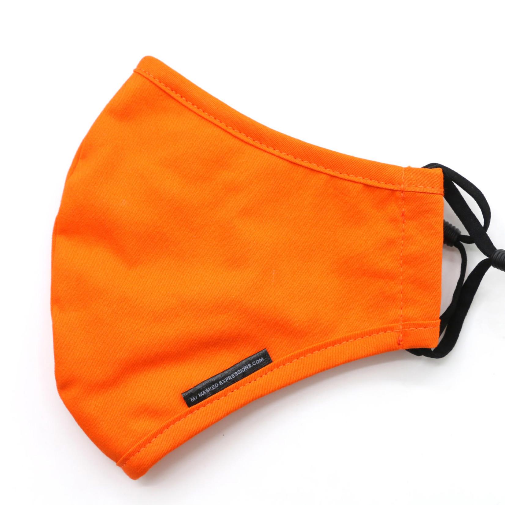 My Masked Expressions Adult Size Mask, Tangeirne Orange Sport Mesh