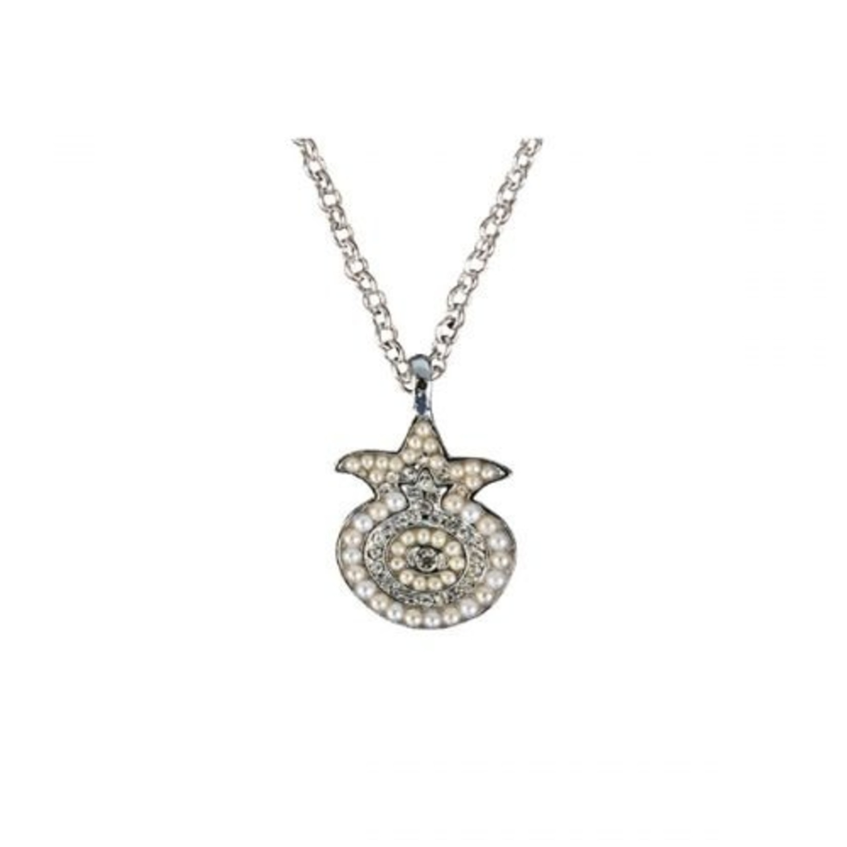 Necklace, Pomegranate with Swarovski Crystals