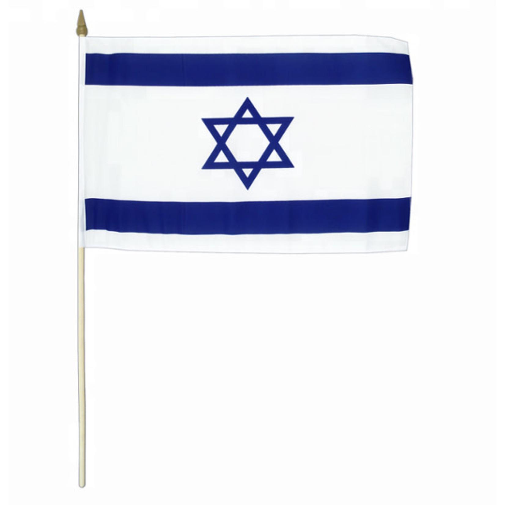 Handheld Israeli Flag, 12x18 Inch