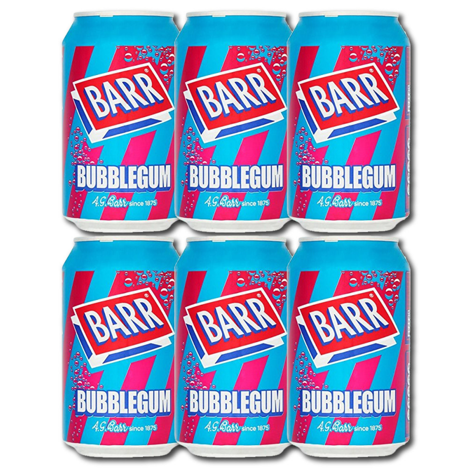 Barr Bubblegum Soda, 6-Pack