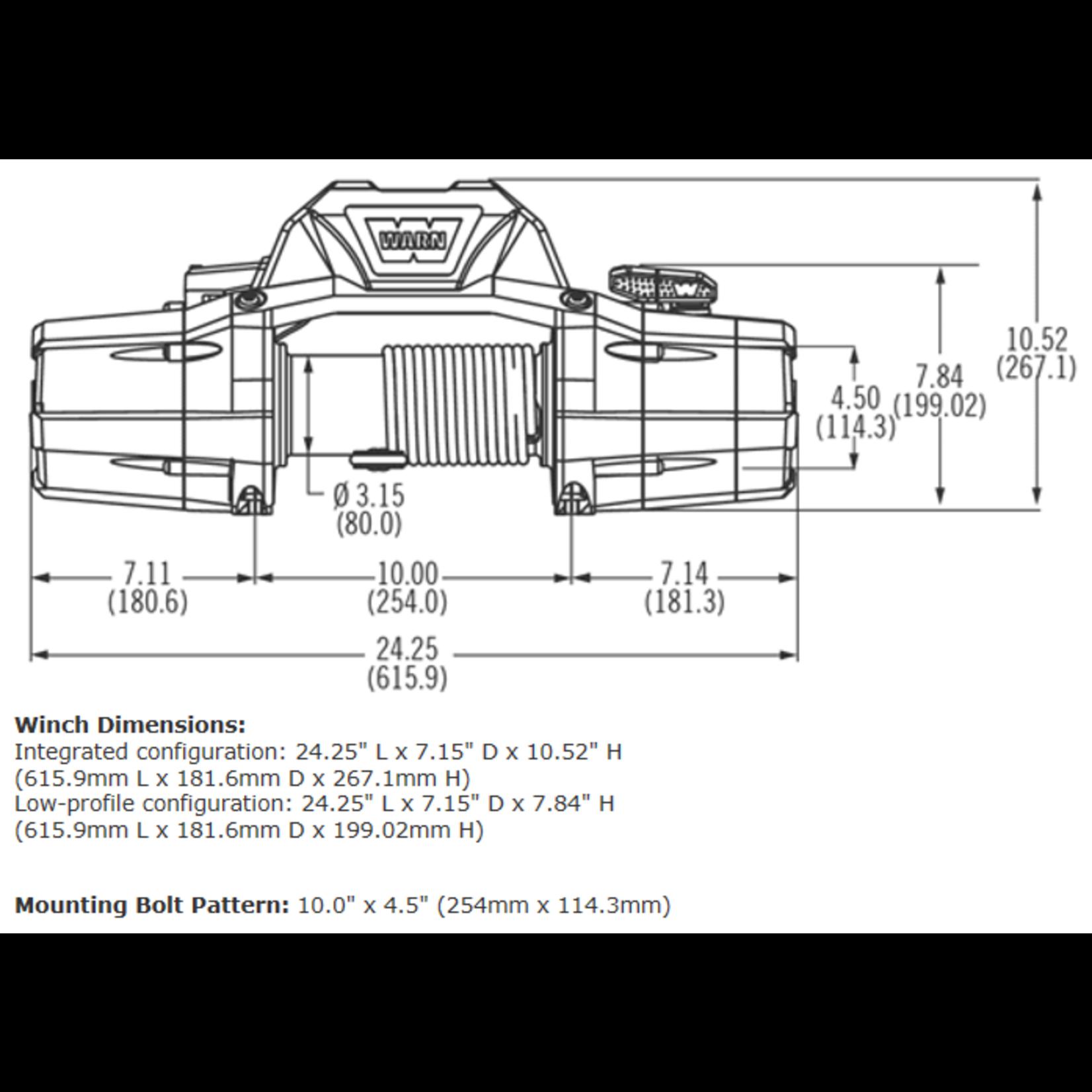 Warn ZEON 8-S Winch w/Synthetic Rope