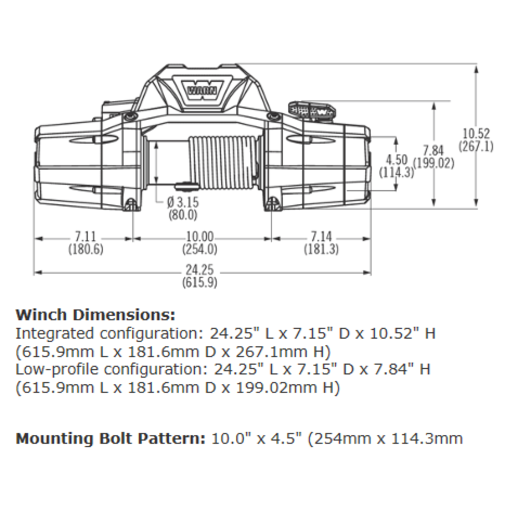 Warn ZEON 10-S Winch w/Synthetic Rope
