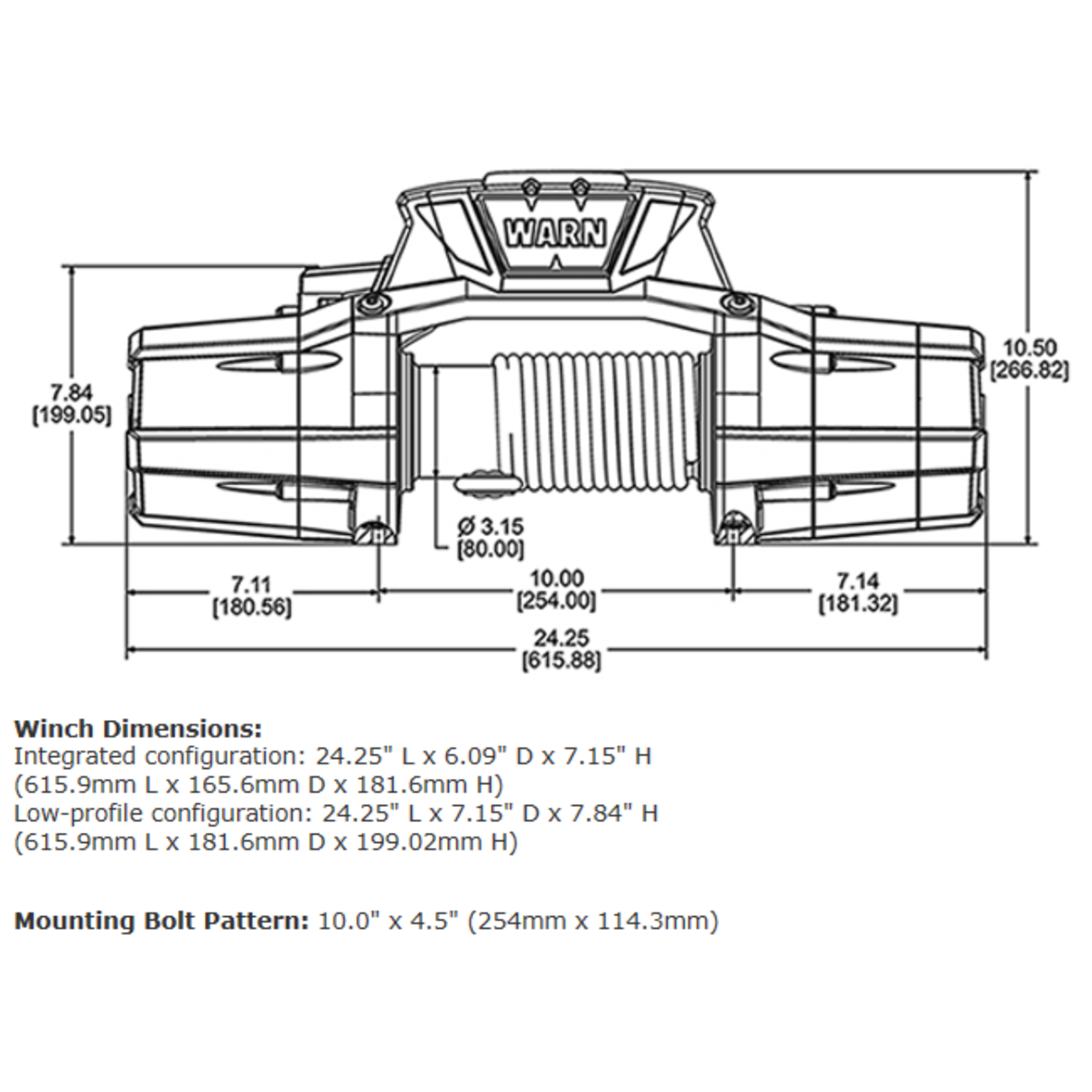 Warn ZEON 12-S Winch w/Synthetic Rope