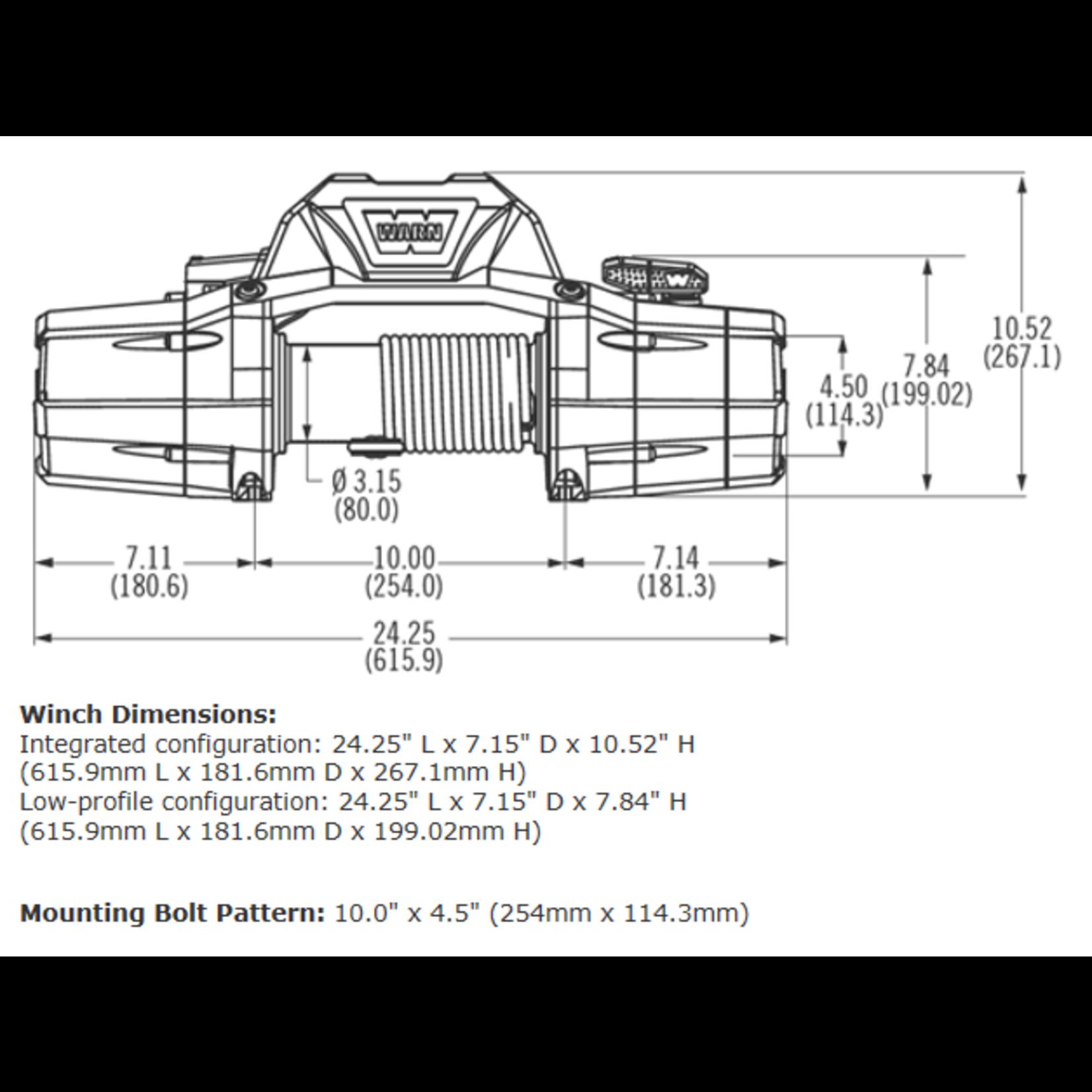 Warn Zeon 8 Winch w/Steel Cable
