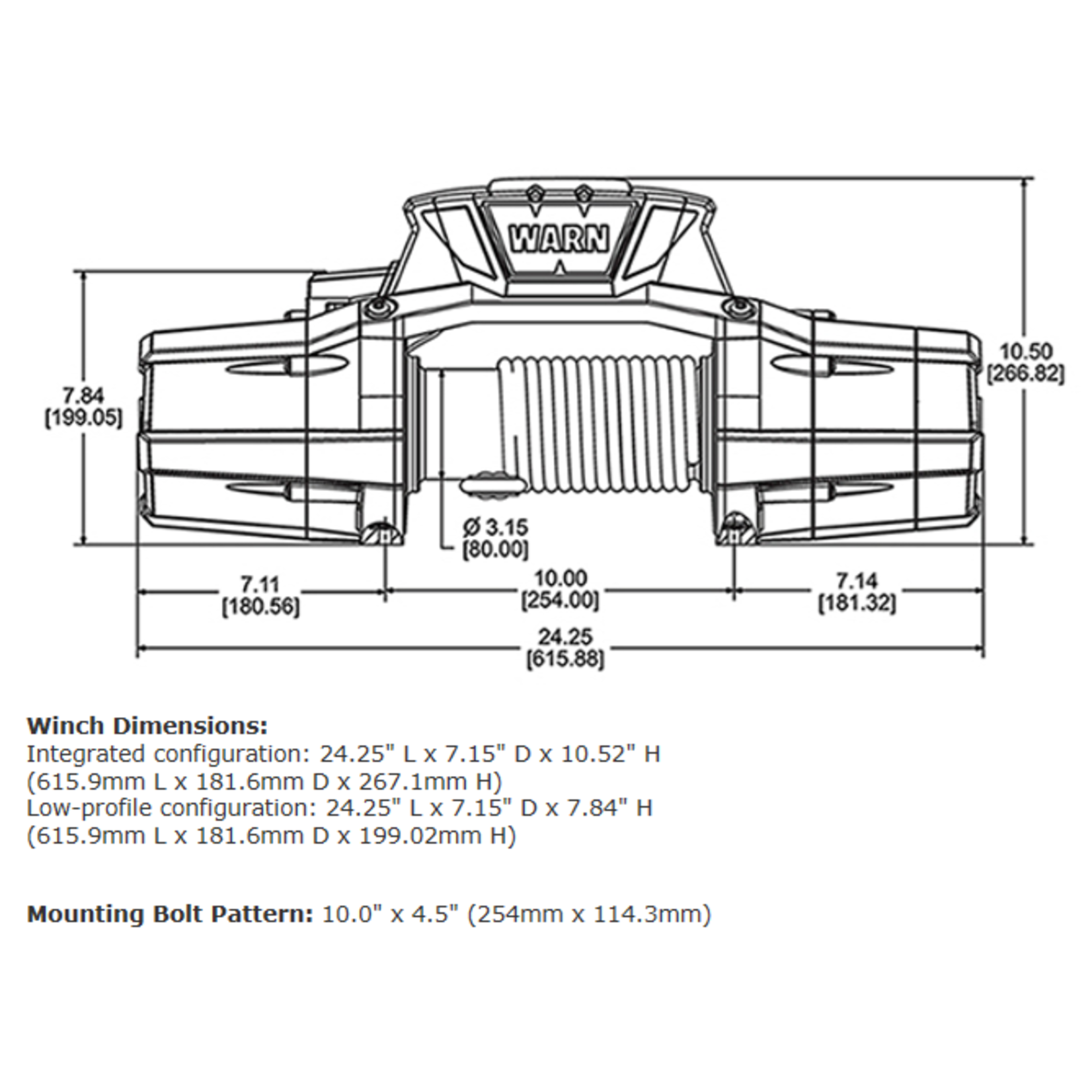 Warn Zeon Platinum 12 Winch w/Steel Cable
