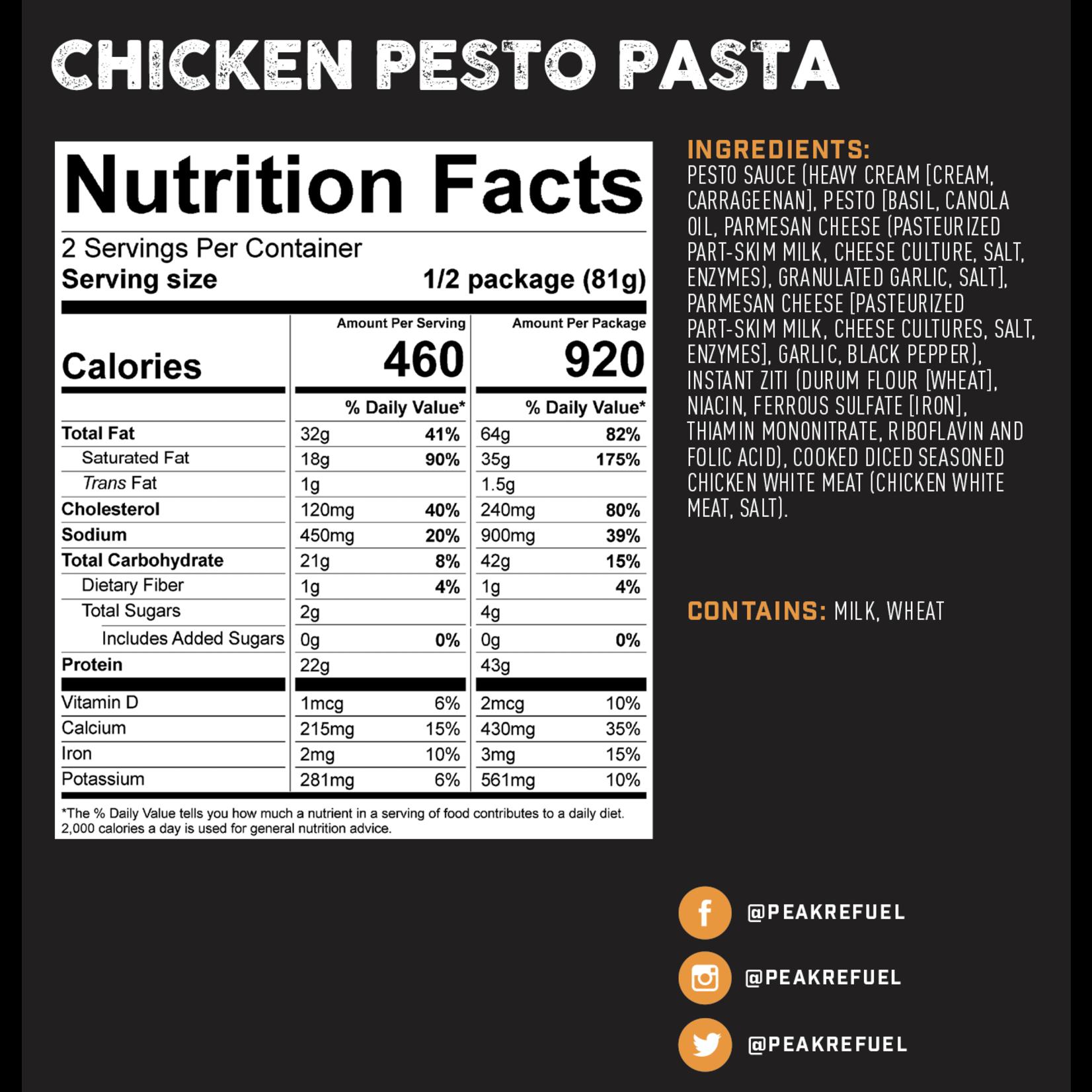 Peak Refuel Peak ReFuel Chicken Pesto Pasta Meal