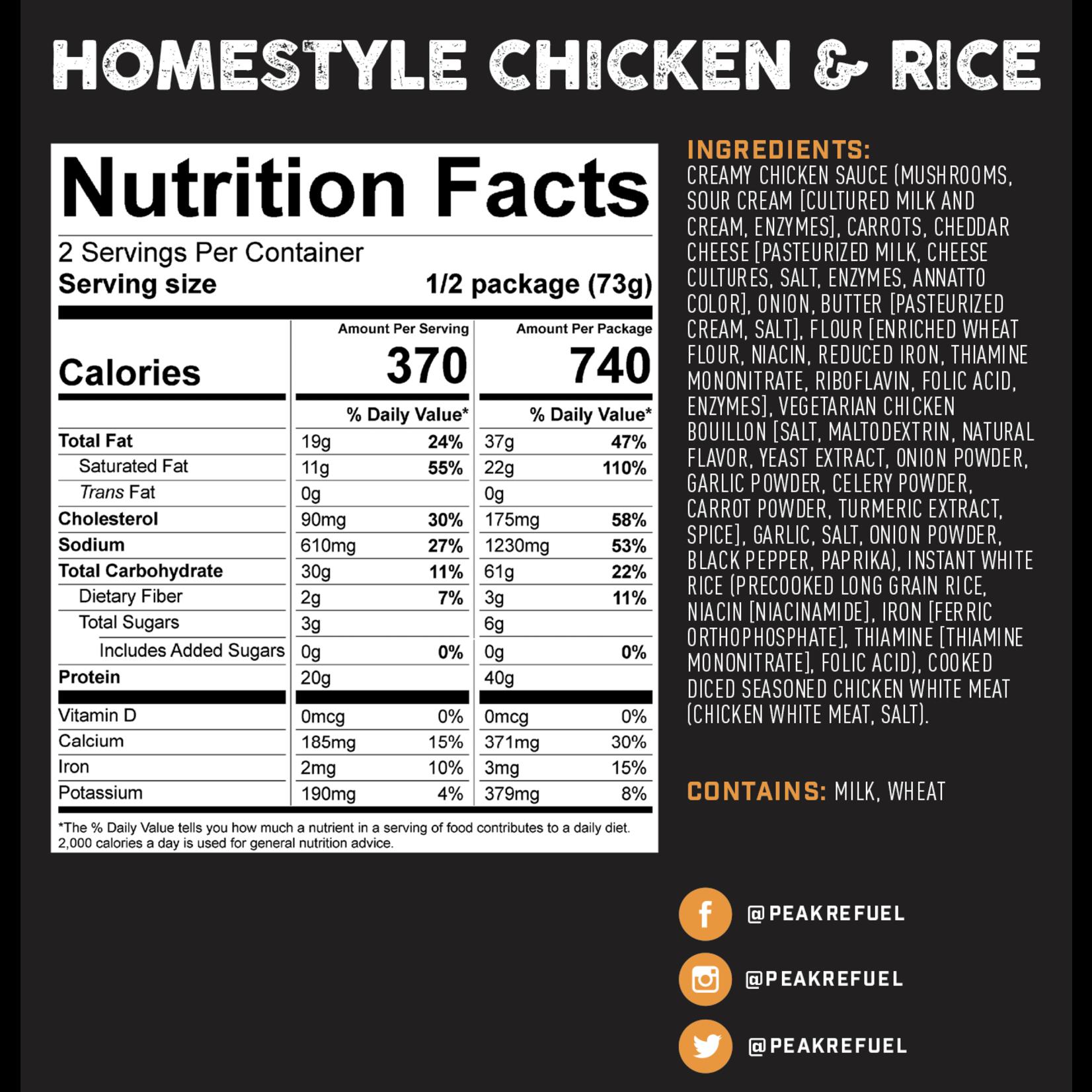 Peak Refuel Peak ReFuel Homestyle Chicken & Rice Meal