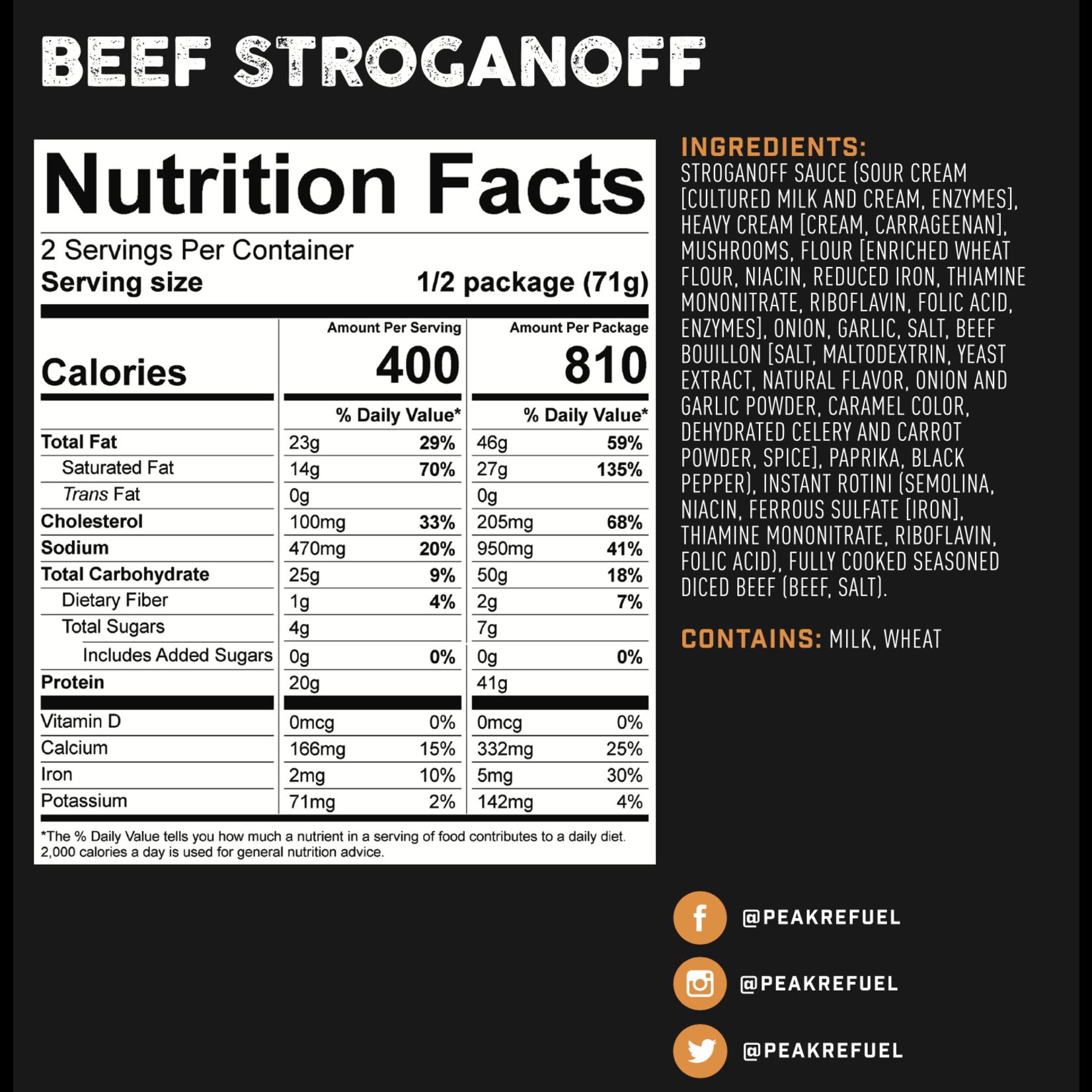 Peak Refuel Peak ReFuel Beef Stroganoff Meal