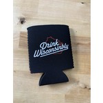 Drink Wisconsinbly Day Drinking Koozie Black