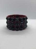 Kookie INT'L Kookie 3 Row Pyramid Wristband