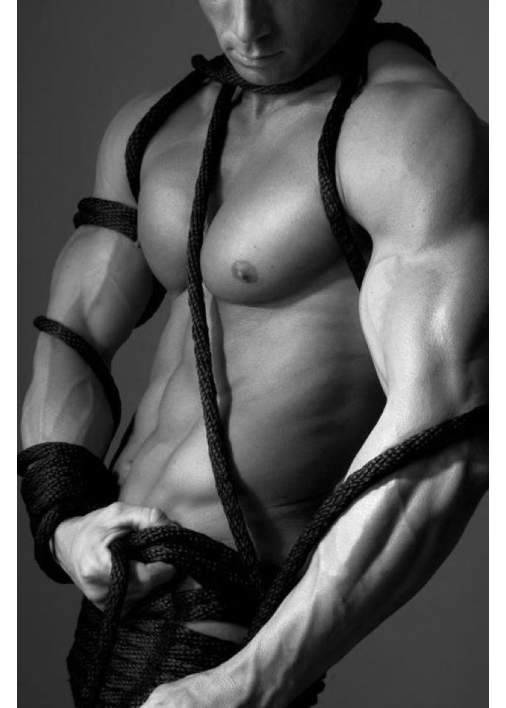 """Fetish Fantasy Bondage Rope 200"""" Black"""