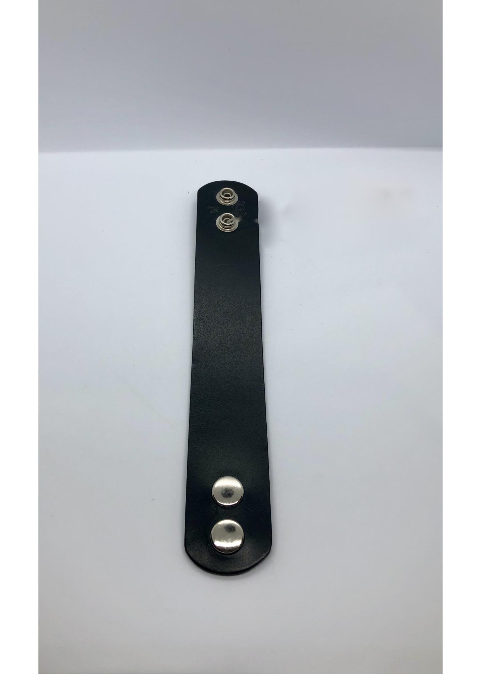 "Kookie INT'L Kookie Leather Wristband 1.5"""