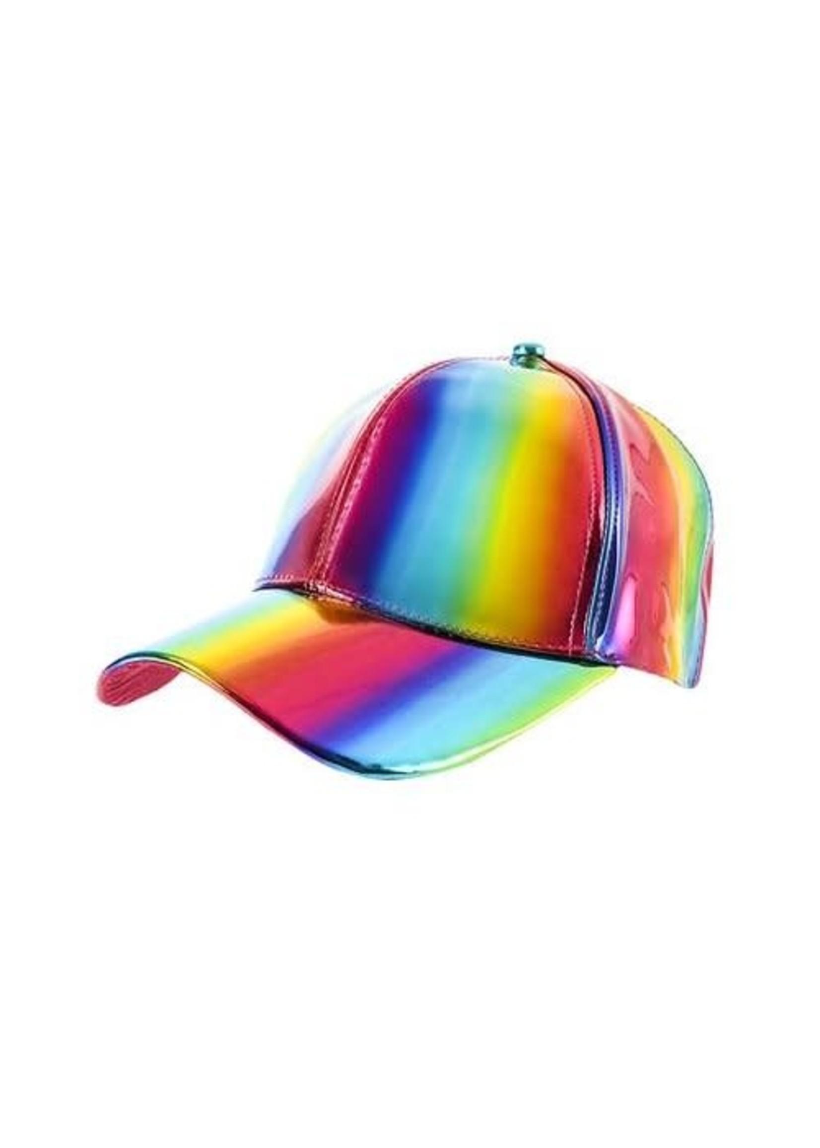 Rainbow Iridescent Cap
