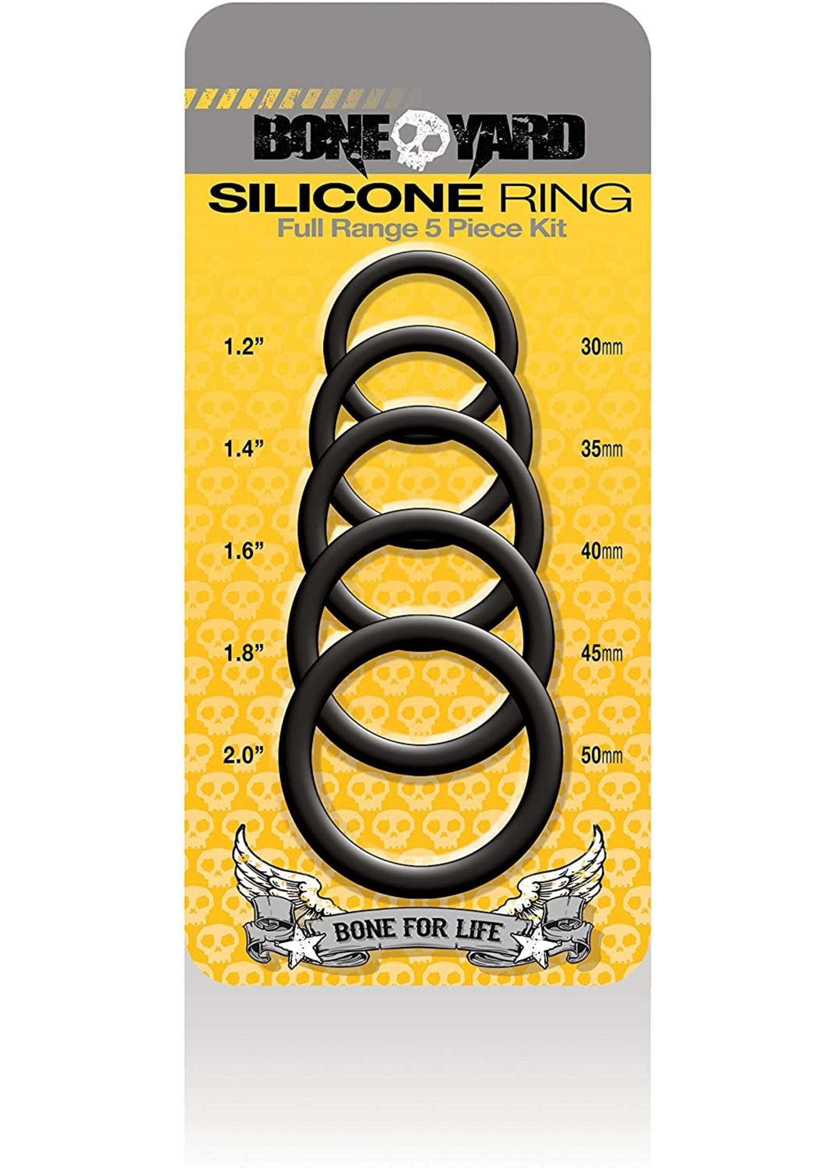 Boneyard Boneyard Silicone Cock Ring 5 Piece