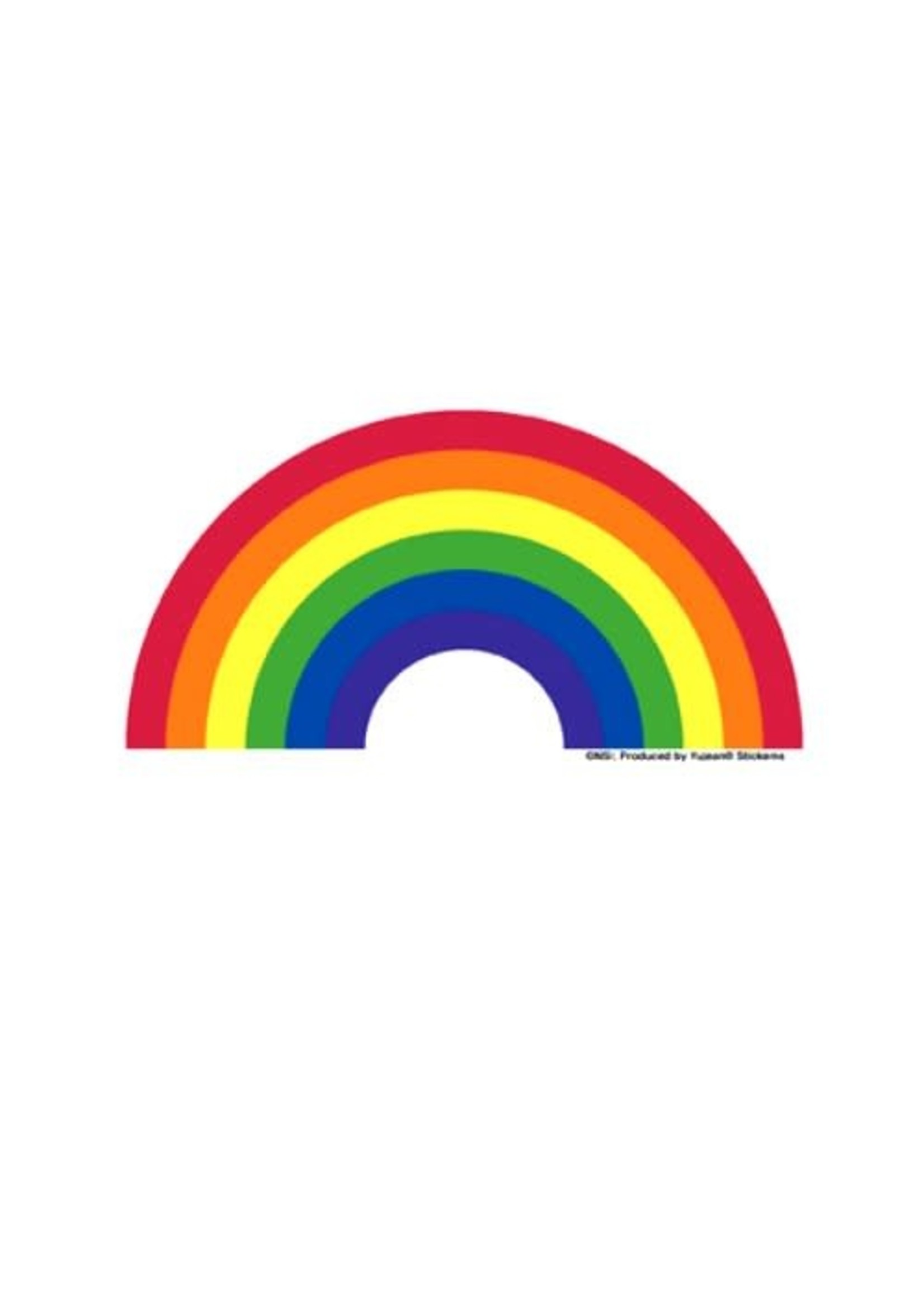 Rainbow Pride Arc Sticker