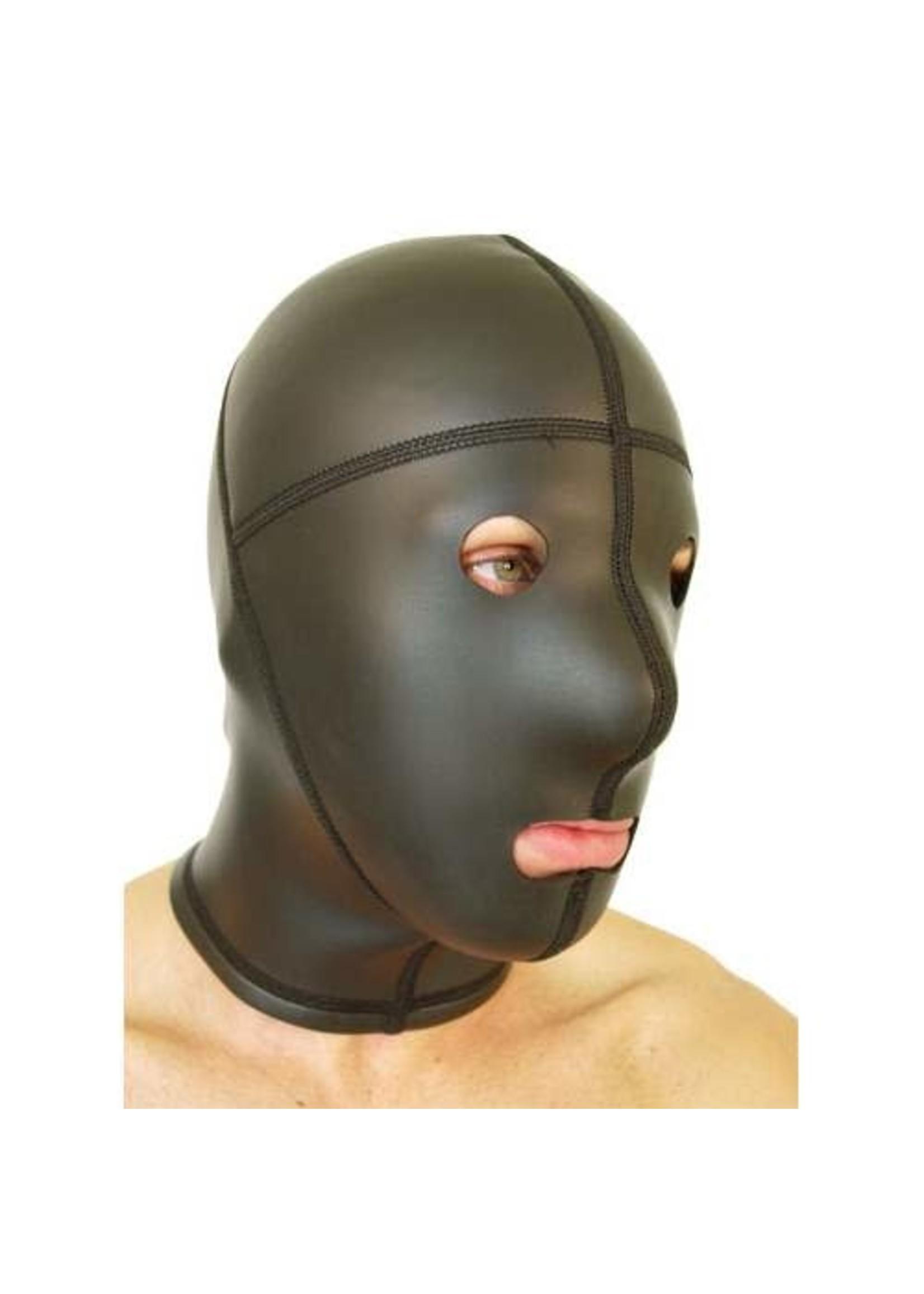 665 Leather 665 Neoprene Panel Hood Open Eyes & Mouth