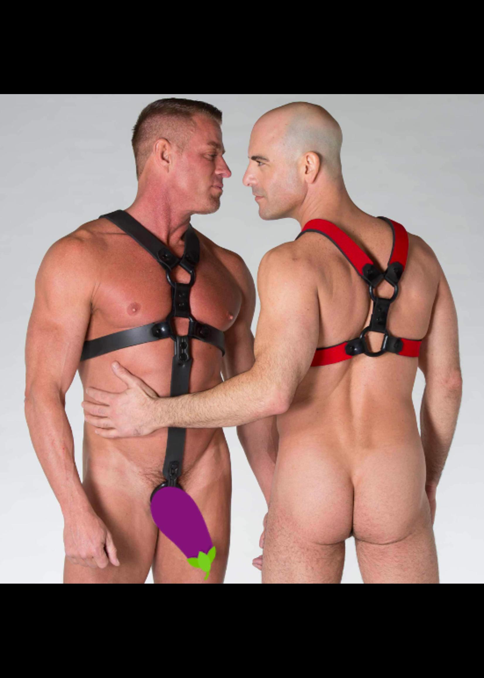 665 Leather 665 NeoSkin Neoprene 5 Strap Harness