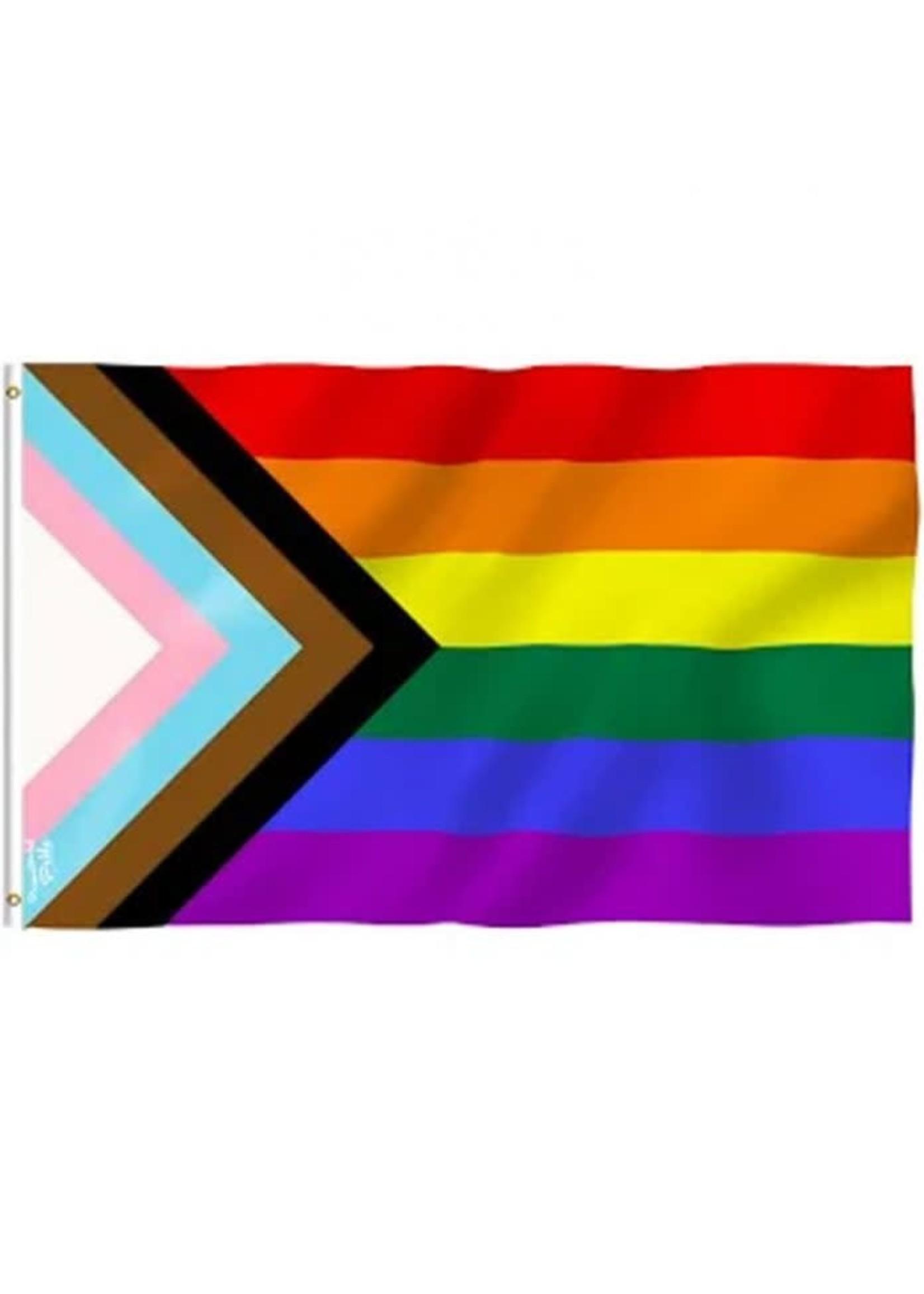 Progress Pride Flag 3' x 5'