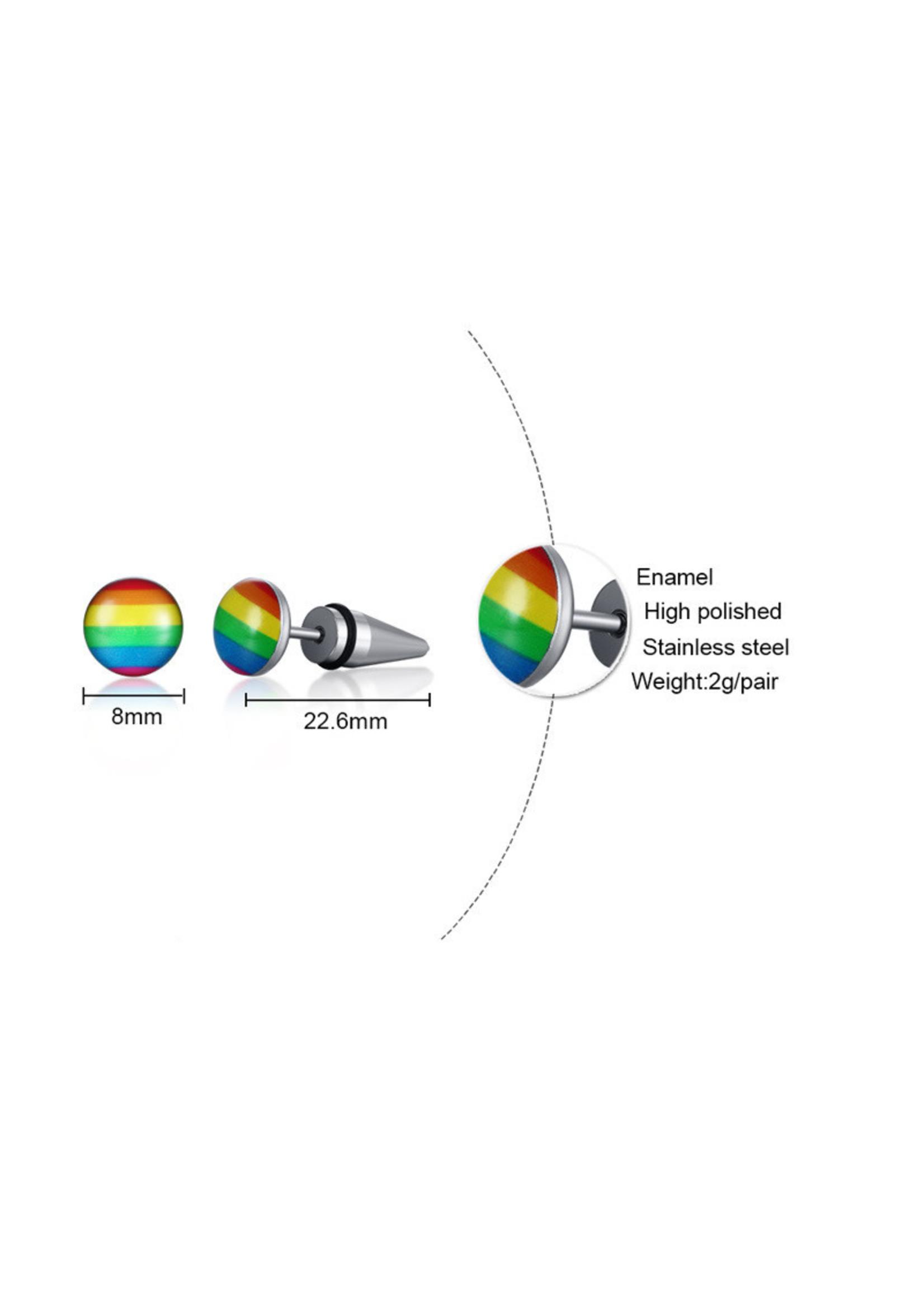 Rainbow Spike Stud Earring