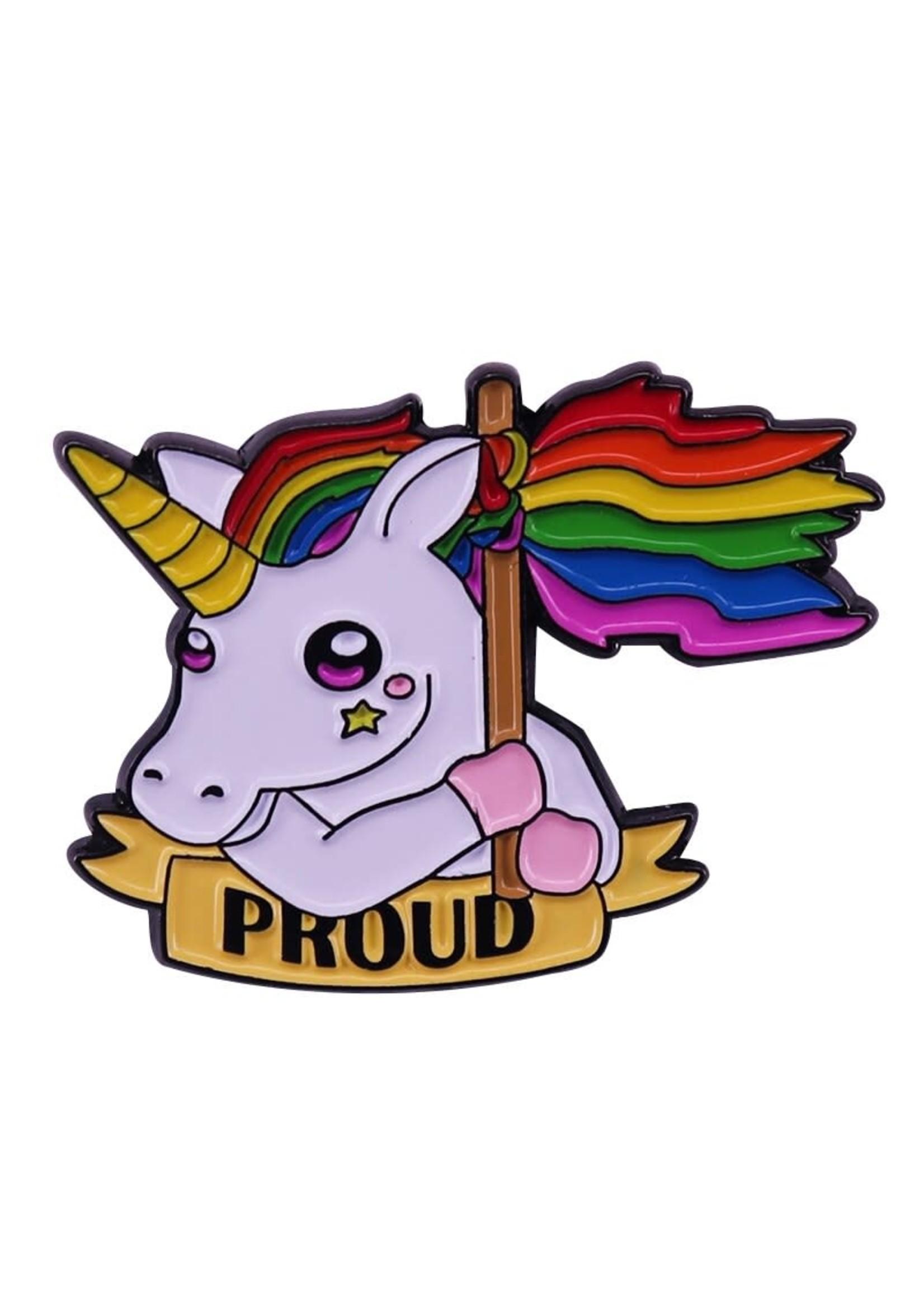 Unicorn Proud Lapel Pin