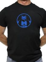 Chris Lopez Leather Vest Blue Tee