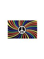 Flag: Rainbow Peace Sign 3' x 5'