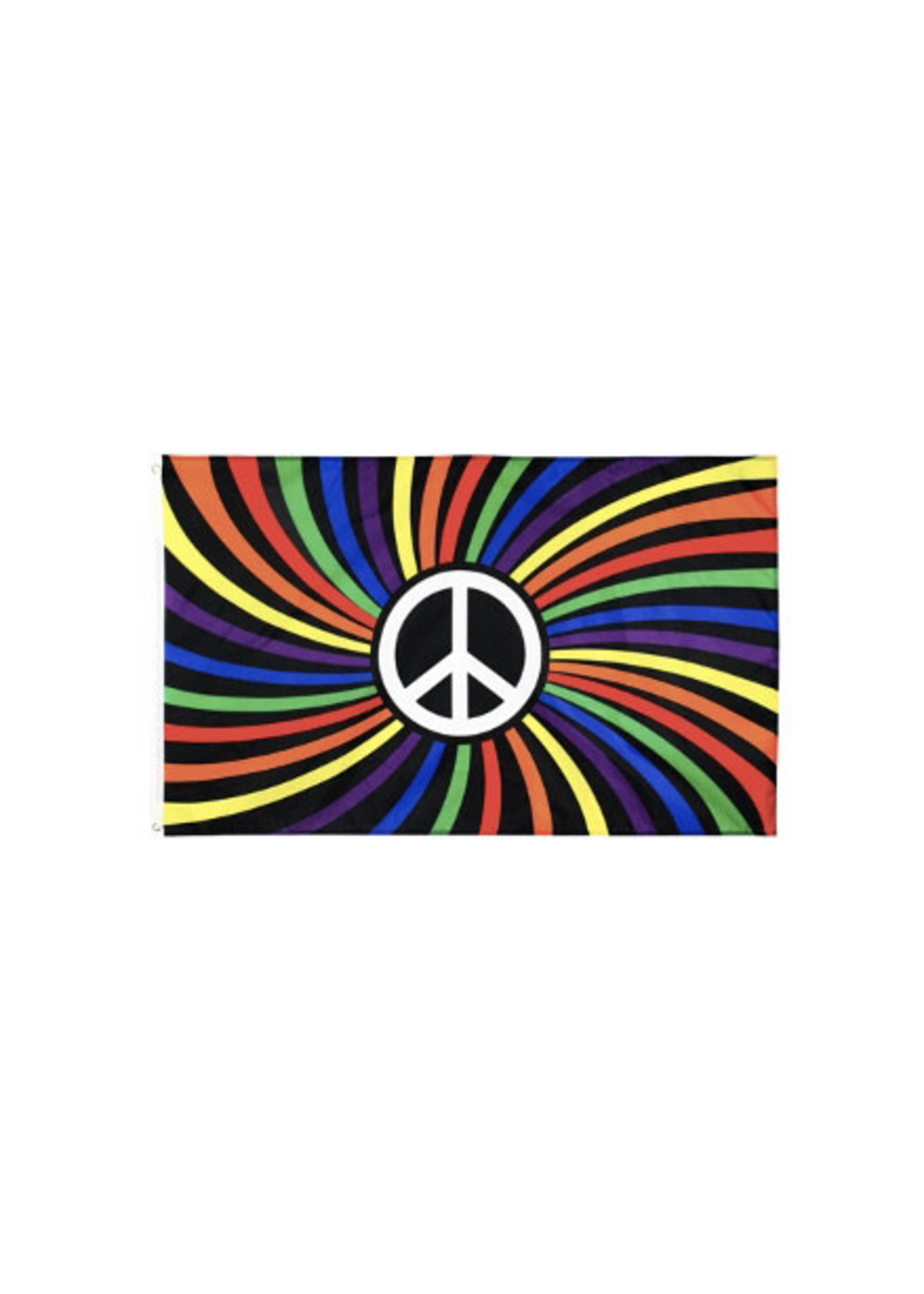 Rainbow Peace Sign Flag 3' x 5'