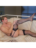 Himealavo Lace Thigh High Stockings w/Garter Belt