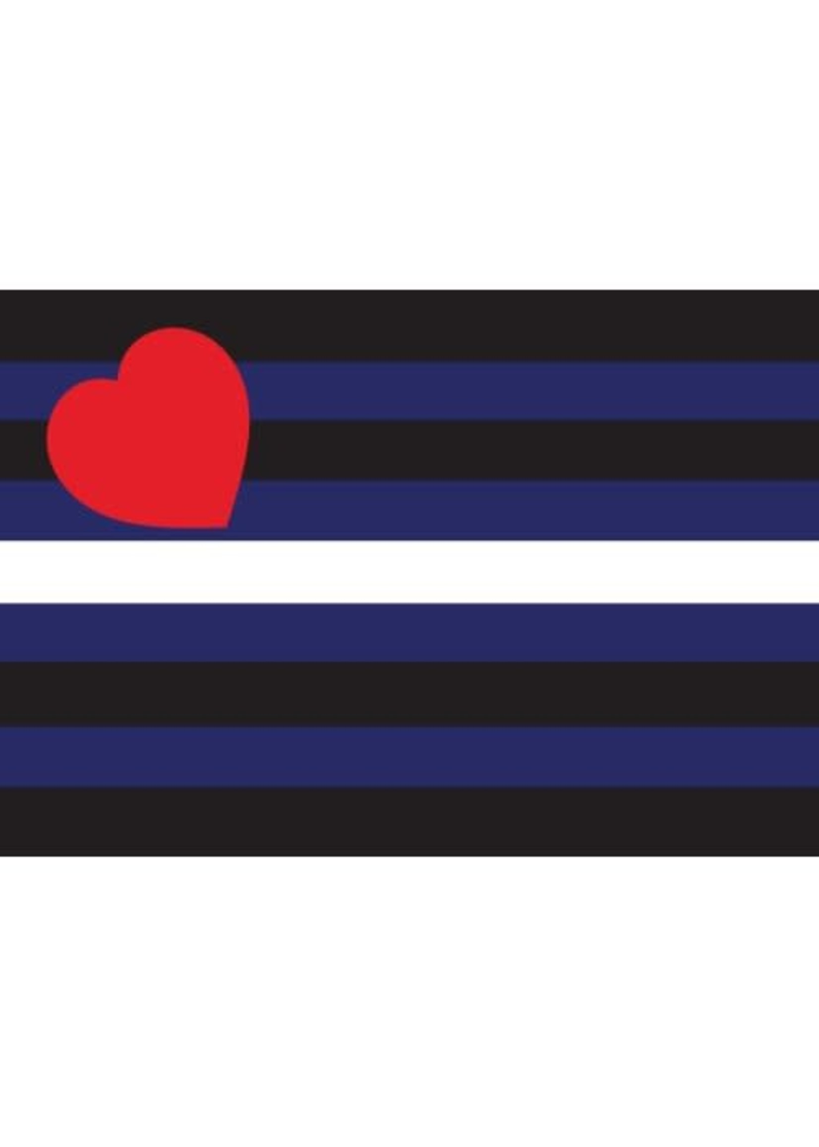 """Leather Flag Paper Sticker 2' x 3"""""""