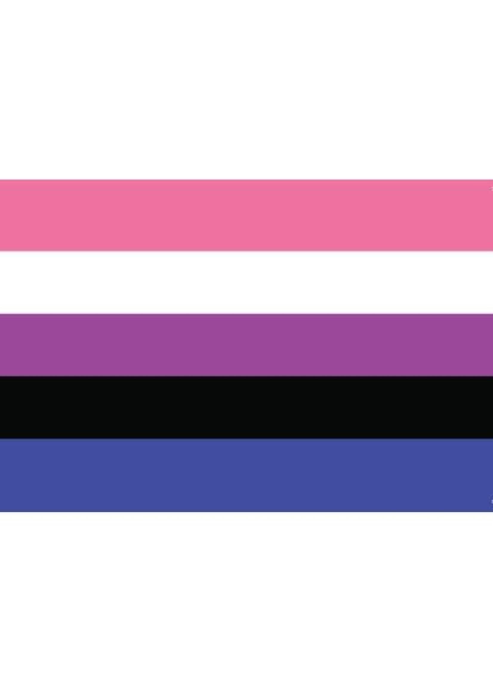 "Gender Fluid Flag Paper Sticker 2' x 3"""