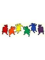 "Rainbow Dancing Pigs 2.5"" x 7"""