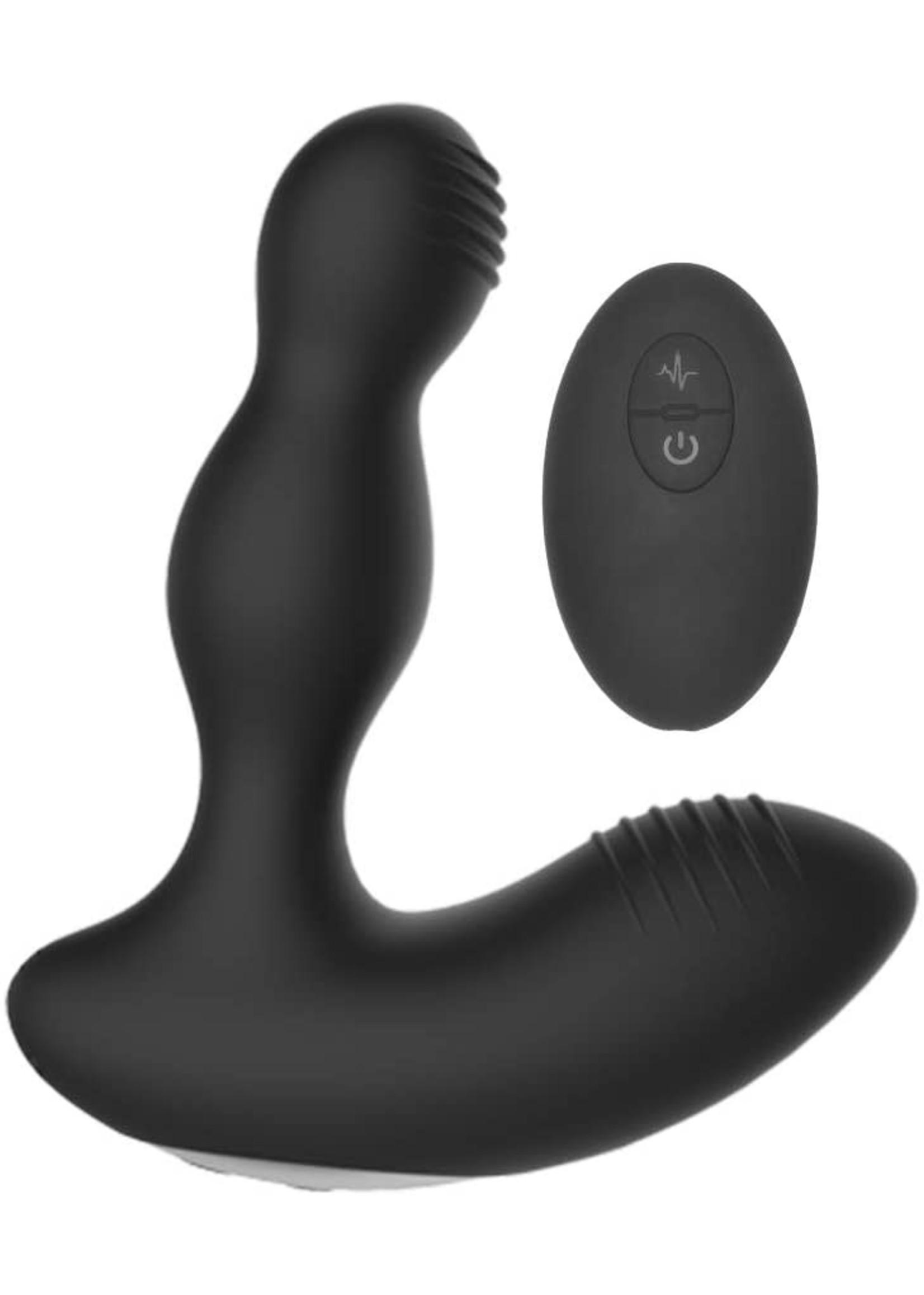 Electroshock Electroshock Remote Controlled Vibrating Prostate Massager Black