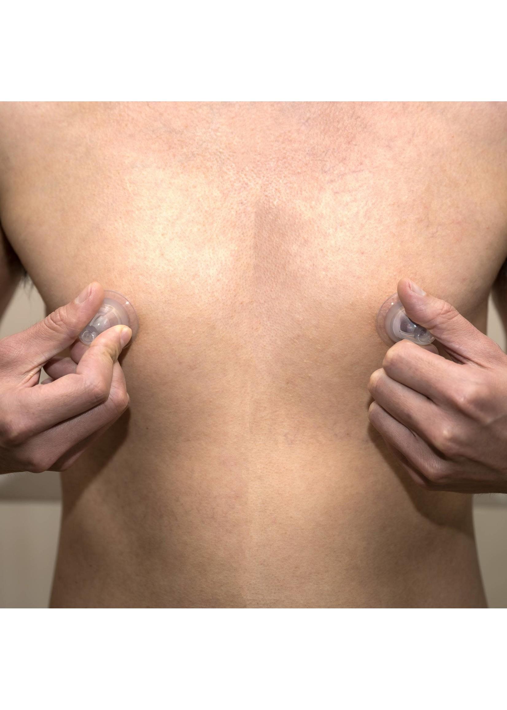 665 Leather 665 Super Silicone Nipple Suckers w/Travel Case