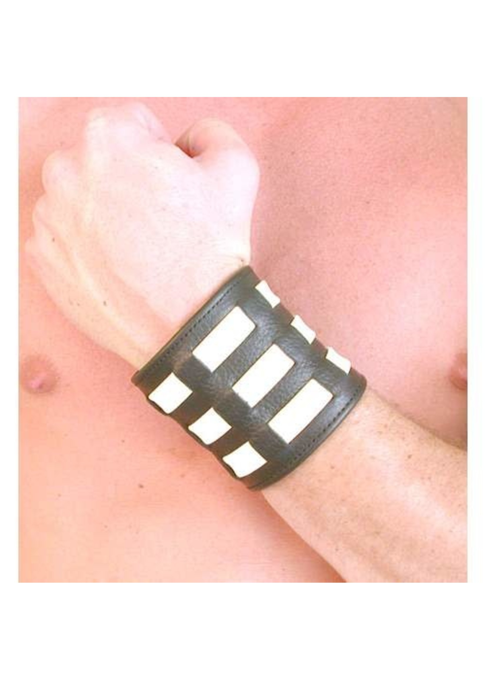 665 Leather 665 Weaved Leather Wristband