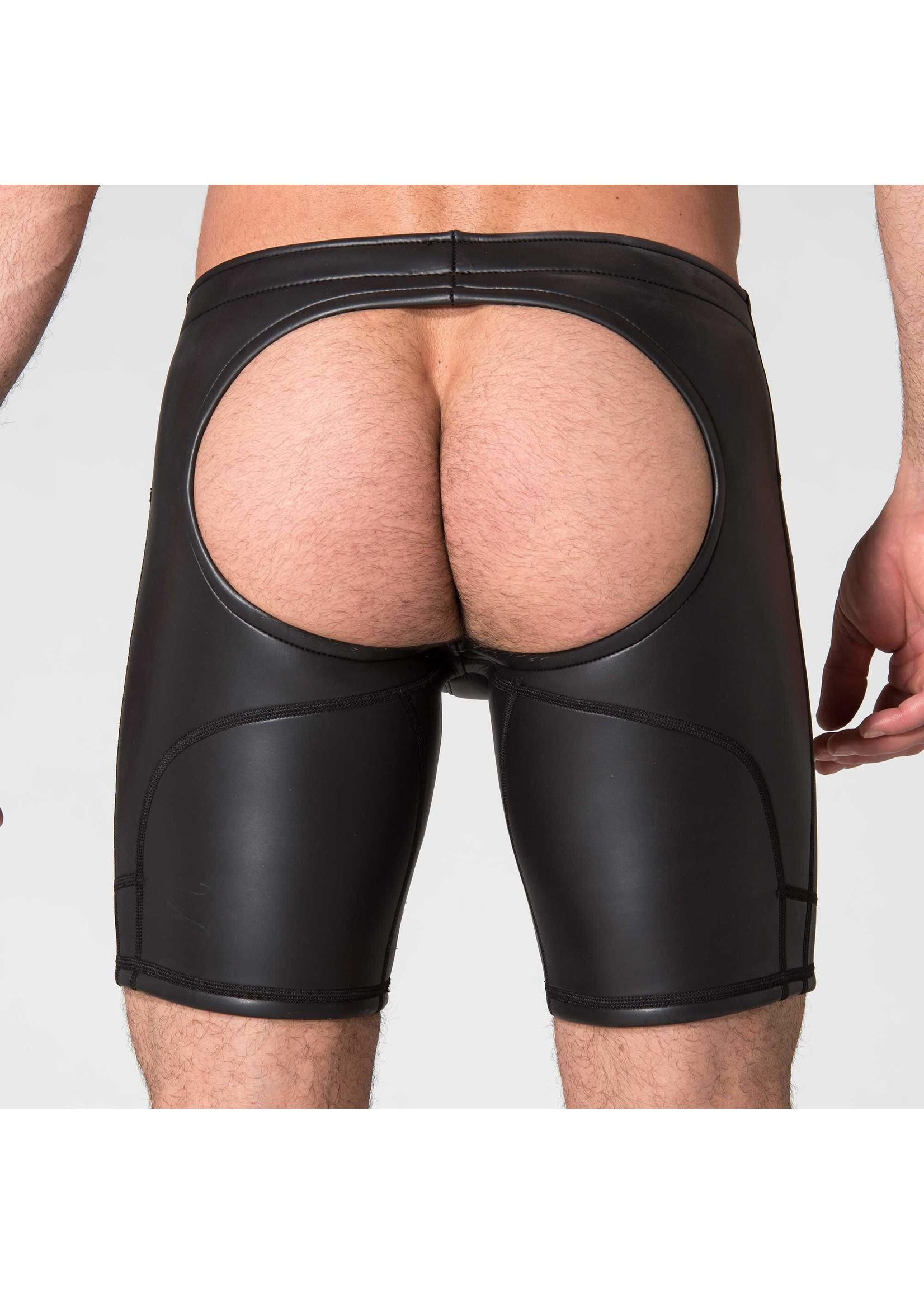 665 Leather 665 Open Ass Neoprene Shorts