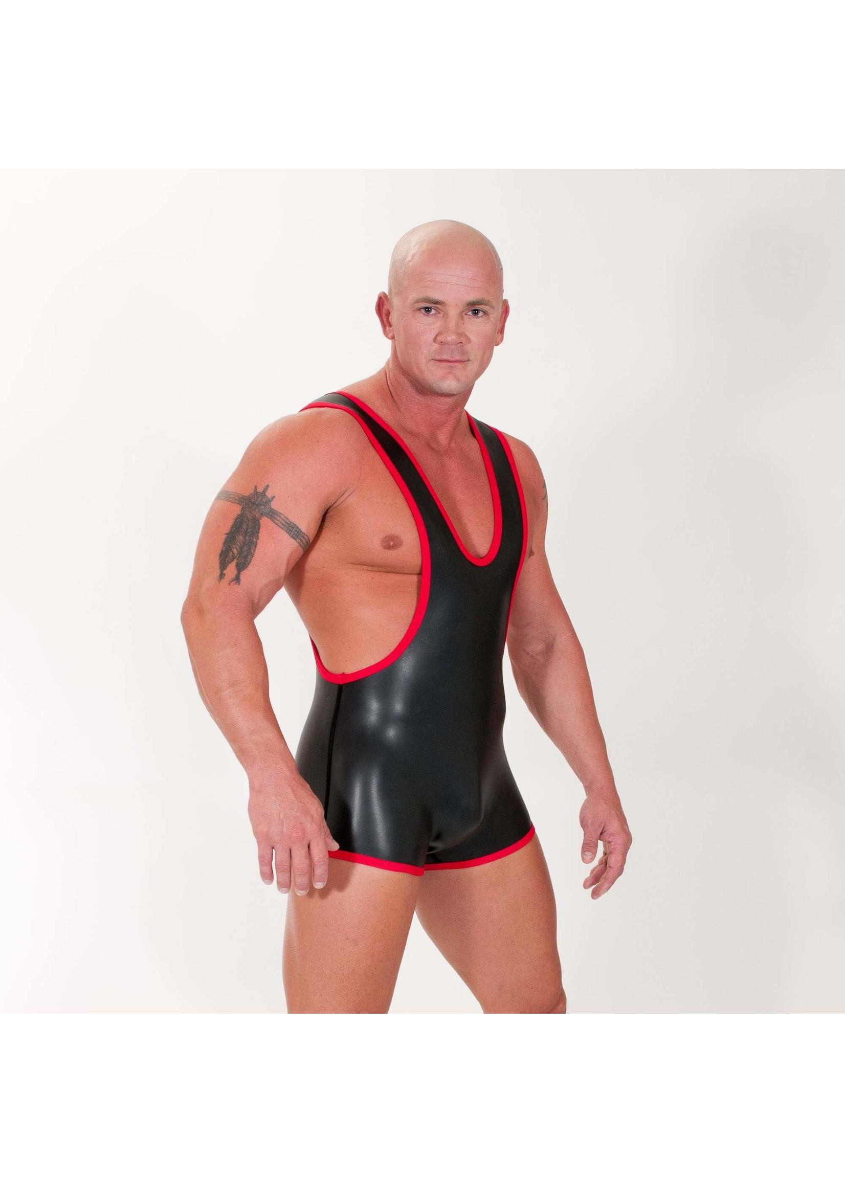 665 Leather 665 Neoprene Wrestling Singlet