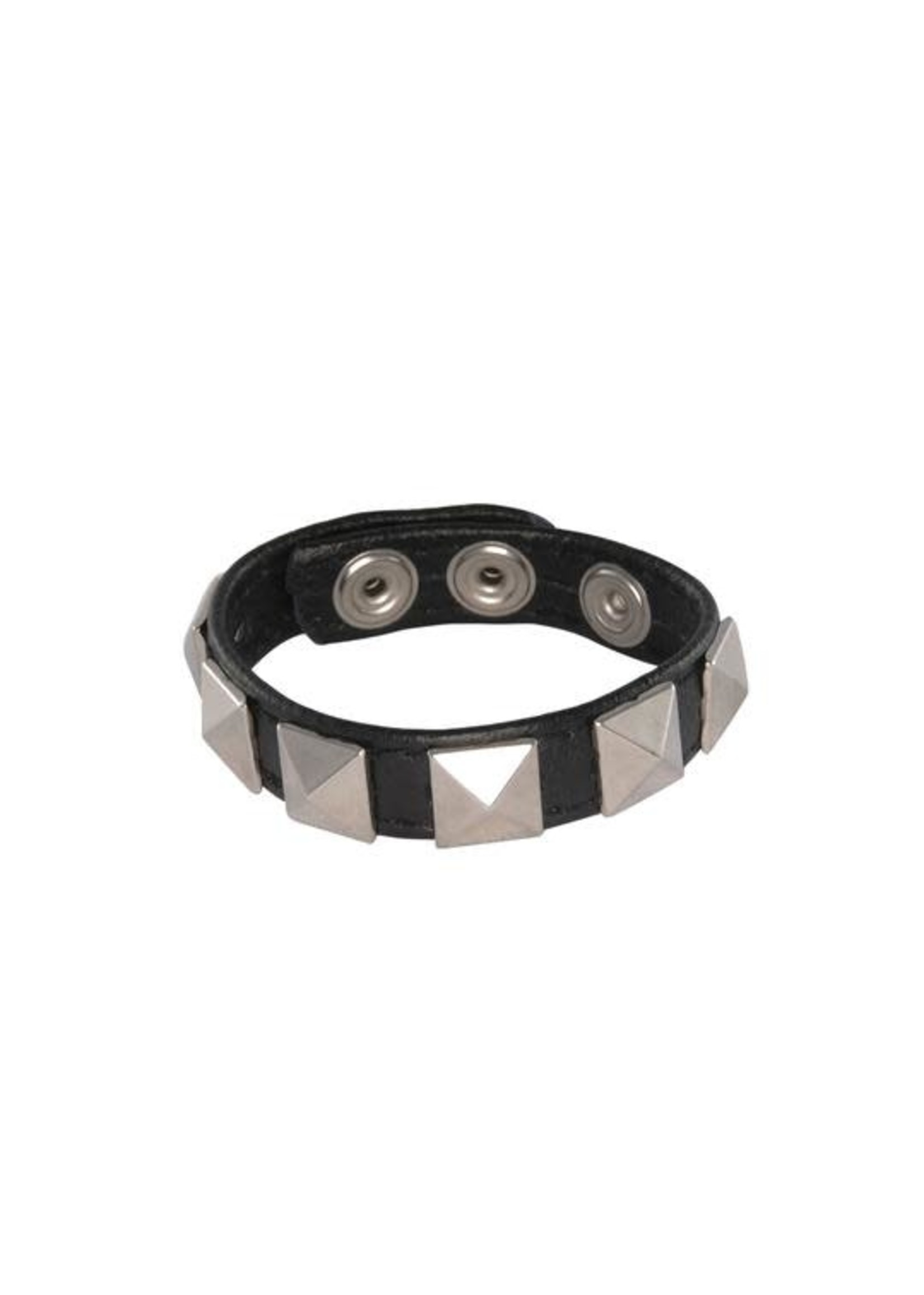 Ignite Ignite Pyramid Studded 3 Snap Cock Ring