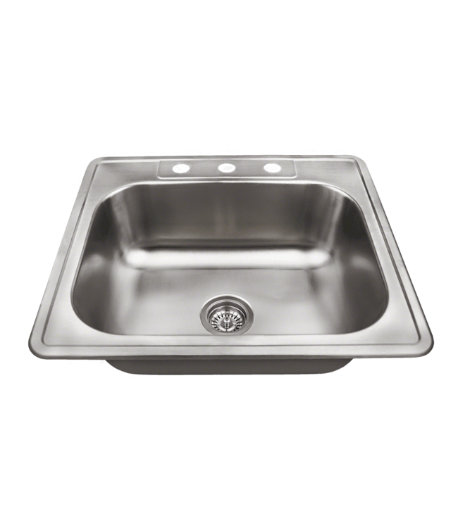 Mr. Direct 25 X 22 Drop-In Kitchen Sink Stainless Steel