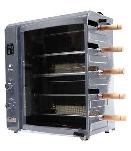 BRAZILLIAN FLAME Brazilian Flame Portable Rotisserie Grill Silver