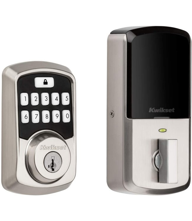 KWIKSET Kwikset Aura Smart Lock Bluetooth Electronic Deadbolt Satin Nickel