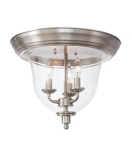 Home Decorations Collection Clear Glass Flush Mount Light Brush Nickel