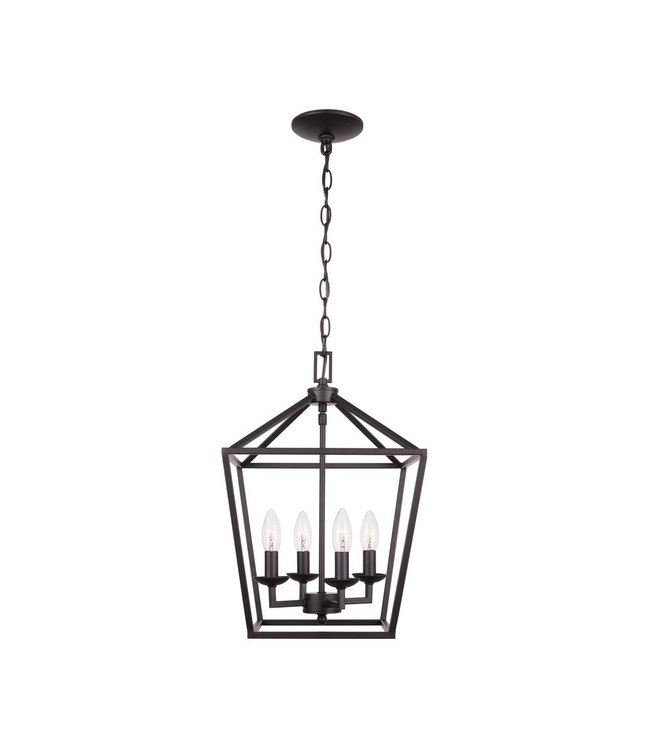 Home Decorations Collection  Weyburn Caged Chandelier Bronze