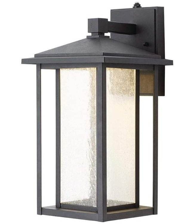 Home Decorations Collection Mauvo Canyon Collection Outdoor Wall Lantern Sconce Black
