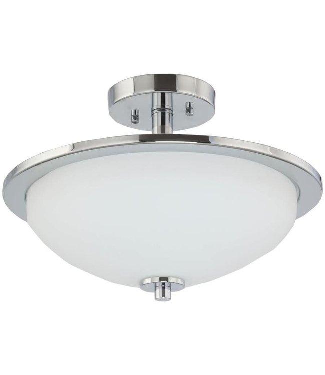 Progress Lighting Replay LED Semi-Flush Mount Light Brushed Nickel