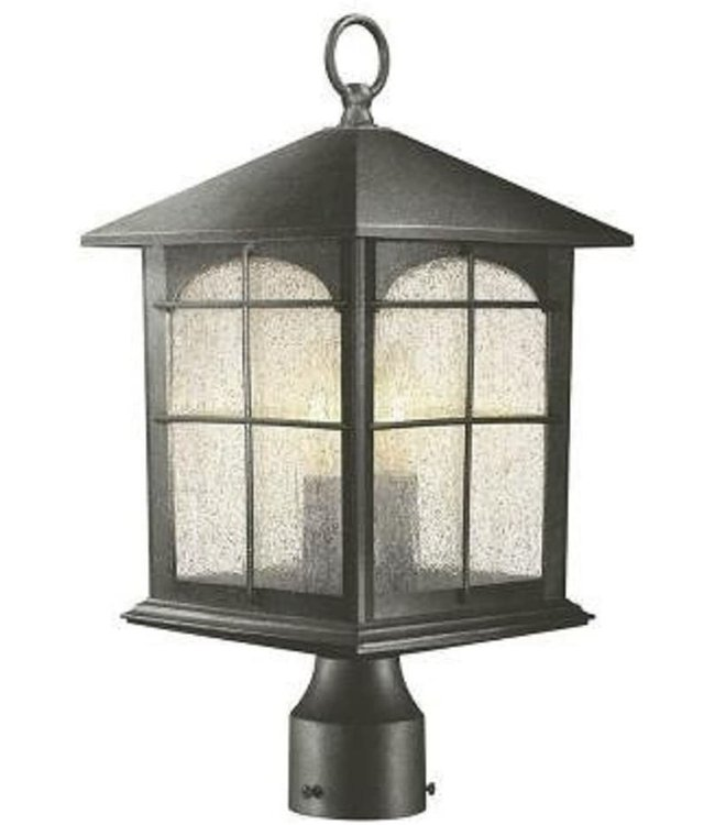 Home Decorations Collection Brimfield Outdoor Aged Iron Post Light