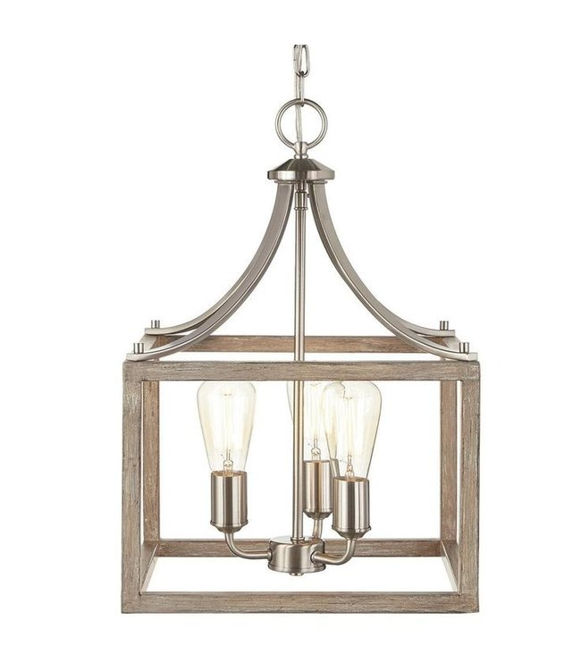 Home Decorations Collection Boswell Quarter Brushed Nickel Pendant